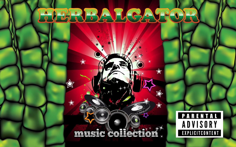 rotes Herbalgator Musik cover
